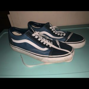 blue and black womens vans